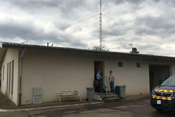 Vagney : la gendarmerie fermée après les inondations dues à l'orage de grêle.