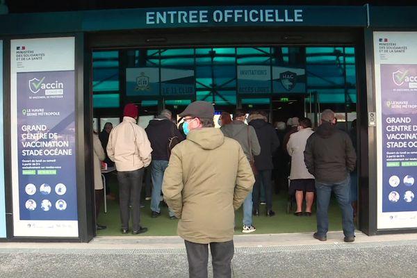 6 avril 2021- Ouverture du vaccinodrome au Stade Océane du Havre