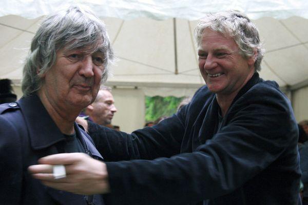 """Jacques Higelin et Rodolphe Burger au festival """"C'est dans la vallée"""" en 2007"""
