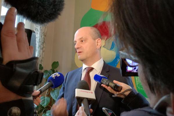Point presse de Jean-Michel Blanquer au rectorat de Clermont-Ferrand, le 8 janvier 2018.