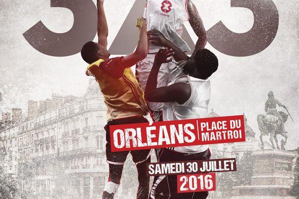 Affiche de l'Open de France de basket 3X3 samedi 30 juillet à Orléans