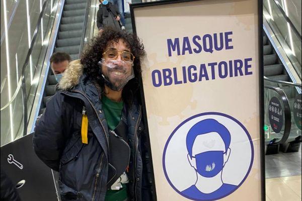 Si vous repérez Marouane Sista, mettez correctement votre masque ou vous risquez d'être mis à l'amende.