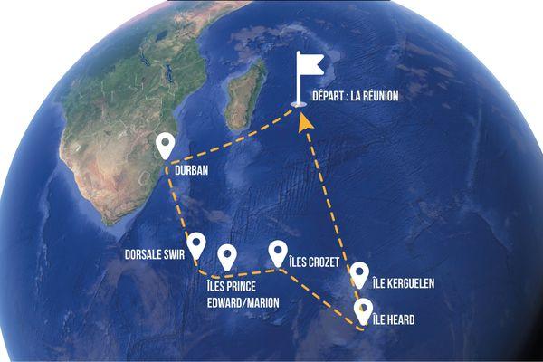 Le parcours de la mission Swings (DR)