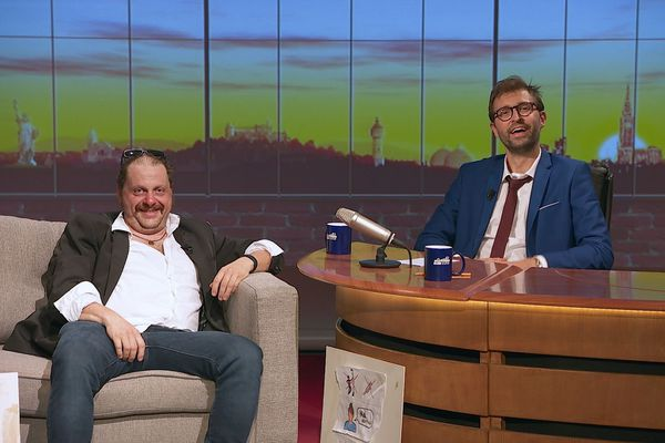 """Philippe Sandmann et son envoyé spécial George-Henri Buhler dit """"GHB"""""""
