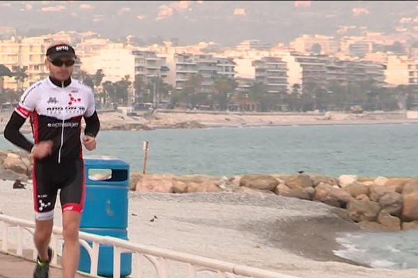 Jonathan Drutel à Nice se prépare pour l'Iron Man du 24 juin prochain.