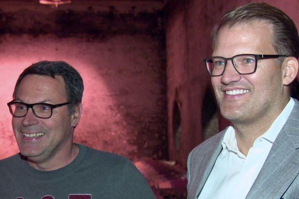 David Fourtout, à gauche, vient de vendre le Domaine des Verdots à l'islandais Robert Wessman