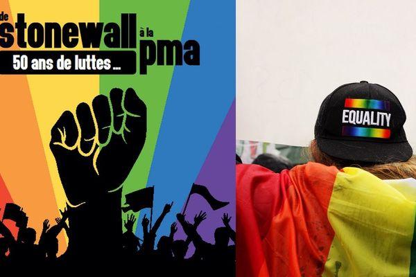 Extrait de l'affiche du festival LGBTI du Poitou