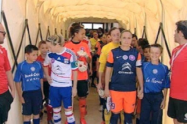 Pérols (Hérault) - les filles de Montpellier éliminées 4 à 0 par les Lyonnaises en demi-finale de la Coupe de France - 5 juin 2013.