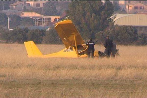 L'ULM s'est écrasé alors qu'il décollait de l'aérodrome de Berre-La Fare