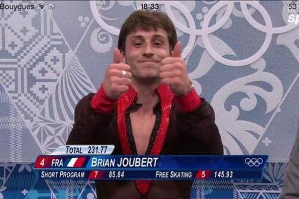 Brian Joubert à l'annonce des résultats à Sotchi