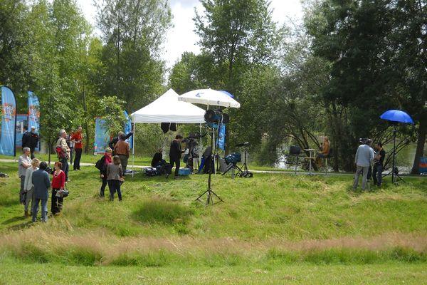 Vue d'ensemble sur le tournage de l'émission.
