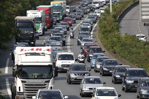 La circulation sera chargée samedi en Île-de-France (illustration).