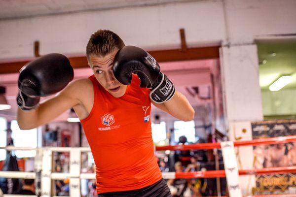 Damien Fabregas, triple champion de France et champion d'Europe de boxe françaiseen savate
