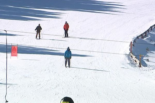 La station de ski des Angles, dans les Pyrénées-Orientales - 27 février 2018