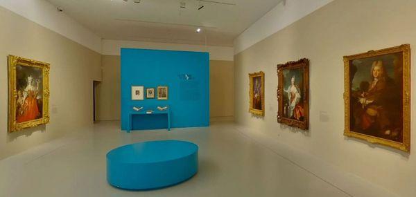 Montpellier - une salle de l'exposition Jean Ranc au musée Fabre - -2020.