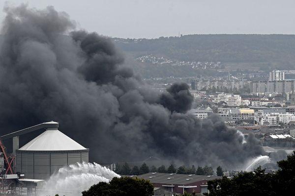 Incendie de l'usine Lubrizol, le 26 septembre 2019 à Rouen.