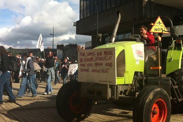 Les opposants au projet d'aéroport du Grand ouest se sont donnés rendez-vous ce samedi 19 octobre 2013 à Nantes