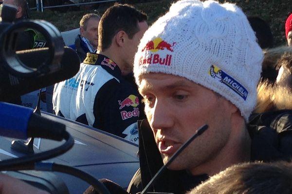 21 janvier 2017, Rallye Monte-Carlo : avec son bonnet, Sébastien Ogier prend la tête ... du classement!