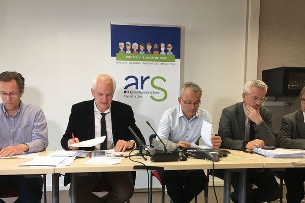 Conférence de presse concernant la situation du coronavirus en Pays de la Loire, le 3 mars 2020 à l'ARS