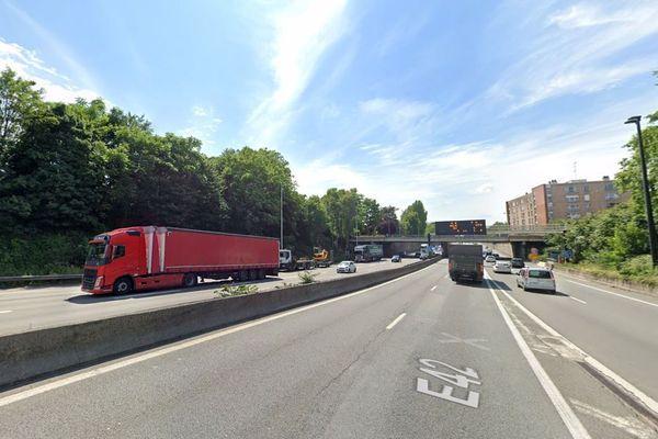 Le drame a eu lieu au niveau de l'échangeur A25/A1 à Lille, à proximité du lycée Faidherbe.