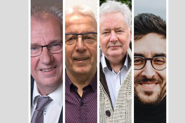 Les quatre candidats pour le second tour des élections municipales de Givet dans les Ardennes