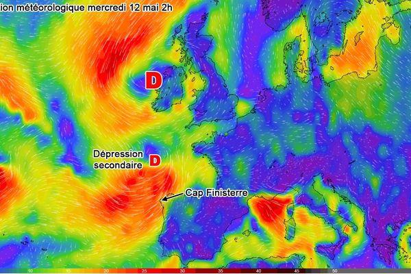 La météo au niveau du Cap Finisterre pour ce mardi 11 mai