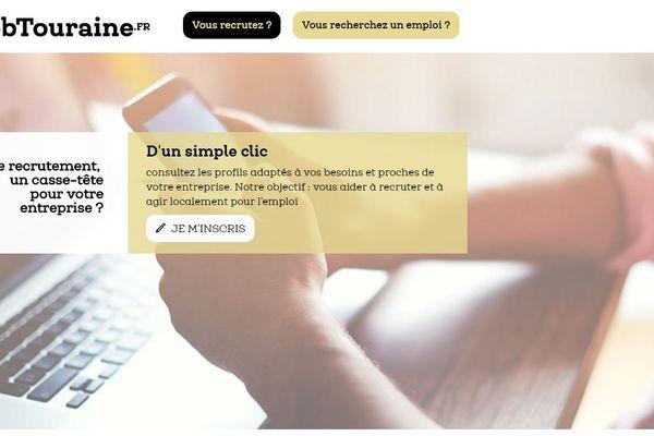 La page d'accueil de la plateforme.