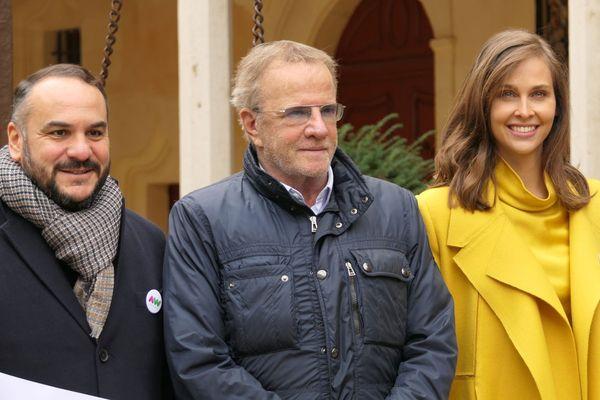 François-Xavier Demaison, Christophe Lambert et Ophélie Meunier