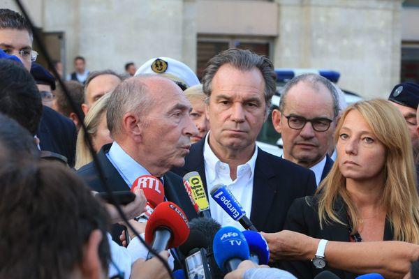 Gérard Collomb à Marseille après l'attaque de la gare Saint-Charles.