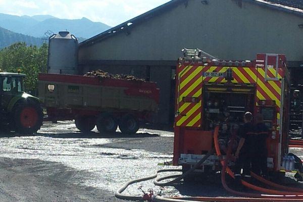 Les pompiers étaient encore sur place ce mercredi après-midi