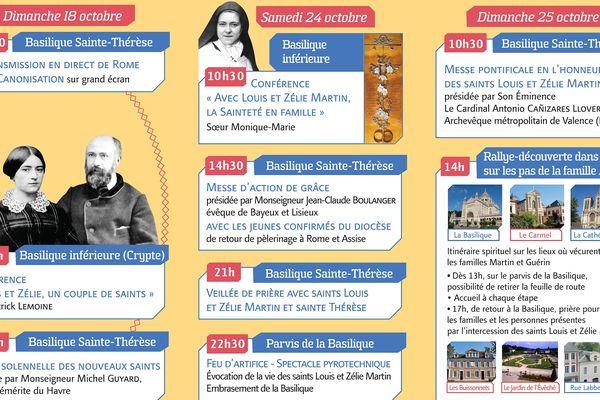 Programme des fêtes des saint Louis et Zélie Martin à Lisieux 18, 24 et 25 octobre 2015