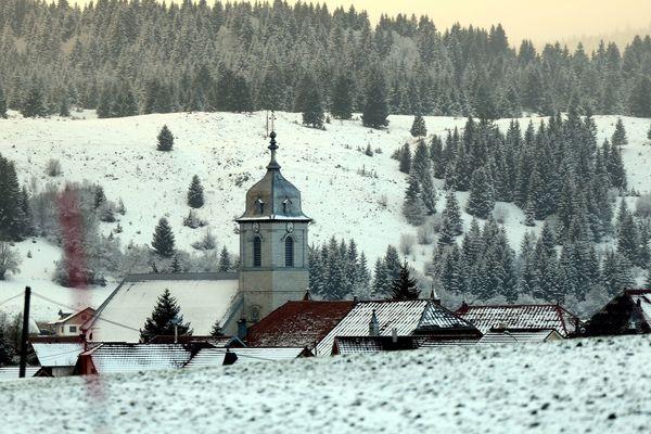 Mouthe, dans le massif du Jura, est souvent parmi les villes les plus froides de France.