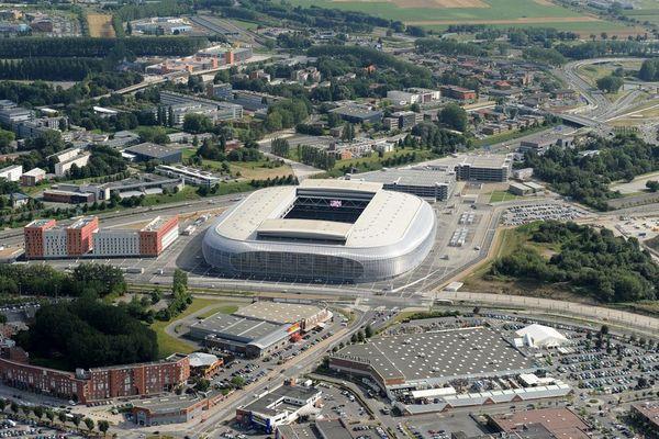 Vue aérienne du stade Pierre Mauroy