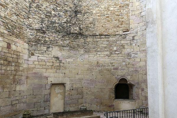 Les restes de l'abside de la chapelle des Cordeliers, sur le site de la résidence hôtelière