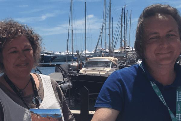 Marie Virgo et Marin Rosenstiehl à Cannes