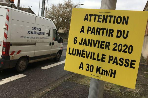 Depuis le 6 janvier 2020, la circulation à Lunéville est limitée à 30km/h