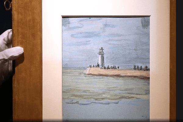 La jetée et le phare du Havre par Monet en 1868