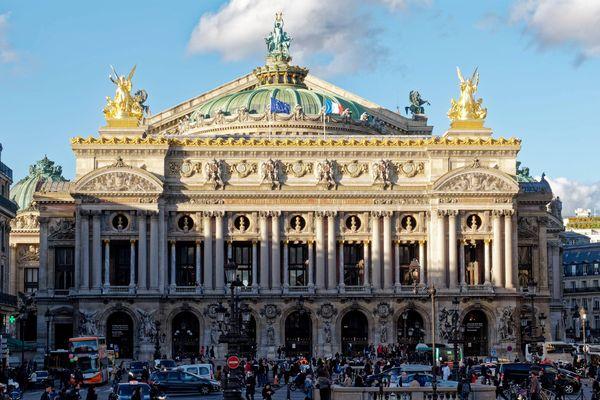L'Opéra Garnier, classé monument historique, dans le 9e arrondissement de Paris.