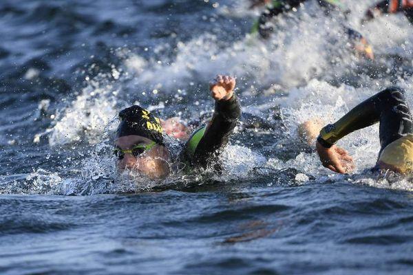 Swann Plazza lors du championnat de France en eau libre de Jablines