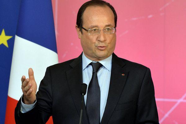 François Hollande a prononcé un discours, un peu plus tôt dans la journée, à Lorient