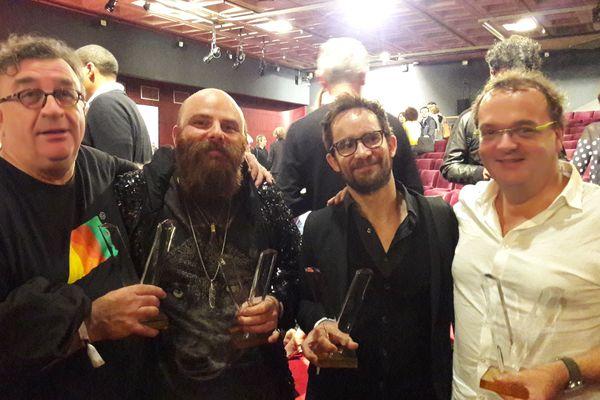 Quatre lauréats des Victoires du jazz 2017: Alex Dutilh, Thomas de Pourquery, Emile Parisien et Denis le Bas