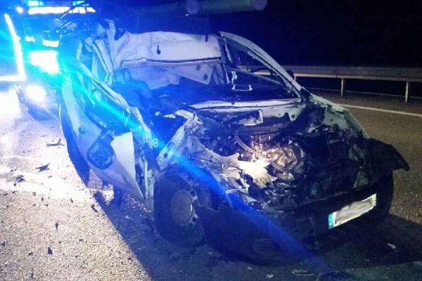 Le conducteur a perdu le contrôle de sa voiture au moment du dépassement du camion qui le précédait à Changé sur l'A28