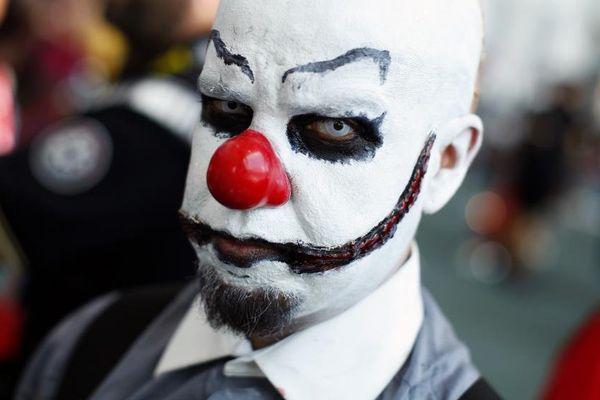 Un homme déguisé en clown lors du festival Comic Con à San Diego (Etats-Unis), le 22 juillet 2011.