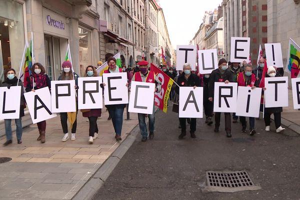 Manifestation de l'intersyndicale CGT FSU Solidaires le 4 février à Besançon