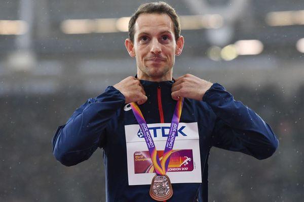 Renaud Lavillenie, médaillé de bronze aux Championnats du Monde d'athlétisme 2017 de Londres.