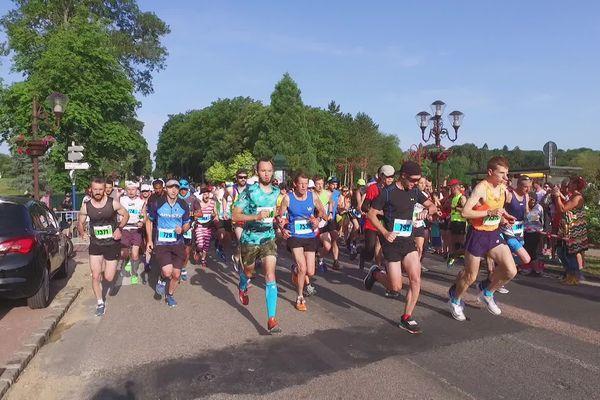 30 juin 2019- Départ du marathon de Forges-les-Eaux (Seine-Maritime)