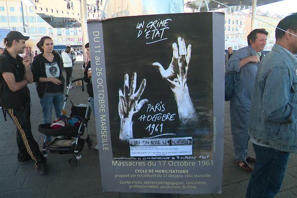 200 personnes mobilisées dimanche pour commémorer les 60 ans du massacre des Algériens à Paris.