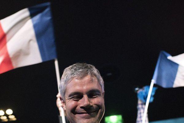Laurent Wauquiez le 13 décembre 2015 à l'annonce des résultats des élections régionales en Auvergne Rhône Alpes.
