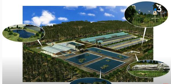 Le projet de centre de traitement des boues du nord bassin à Arès.
