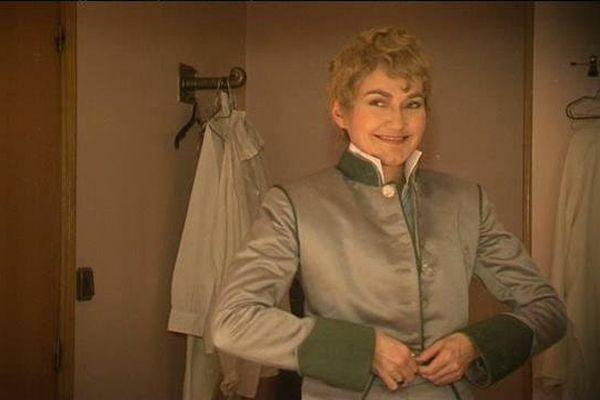 Stéphanie d'Oustrac dans le costume de l'Aiglon.